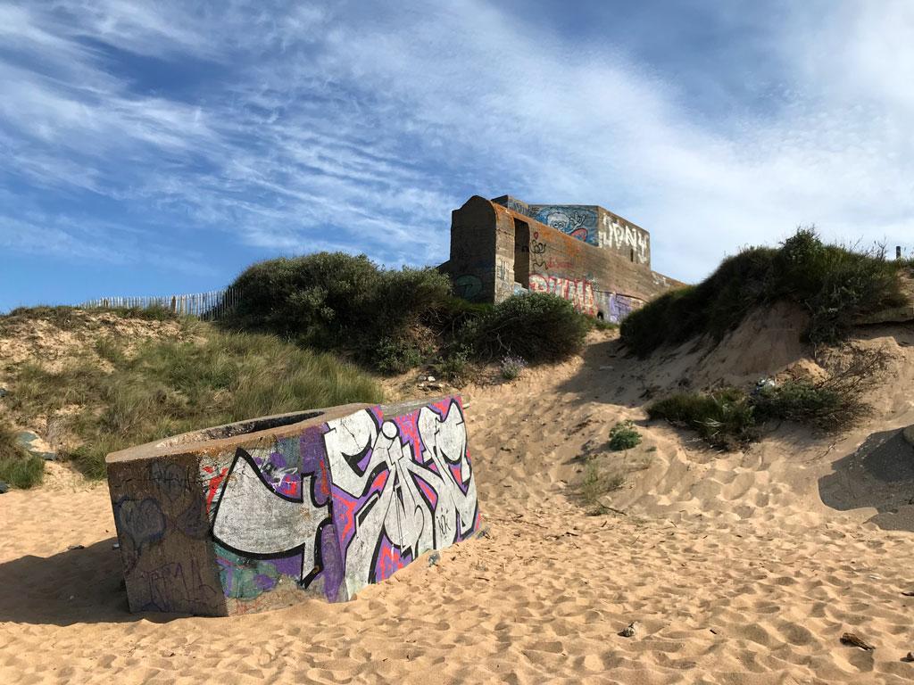 Les restes du mur de l'Atlantique
