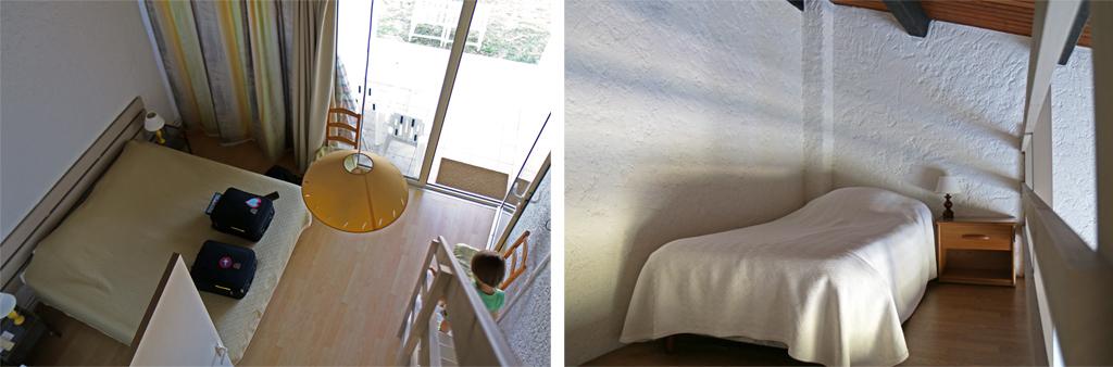 Les chambres sont hautes de plafond et certaines pourvues de mezzanines