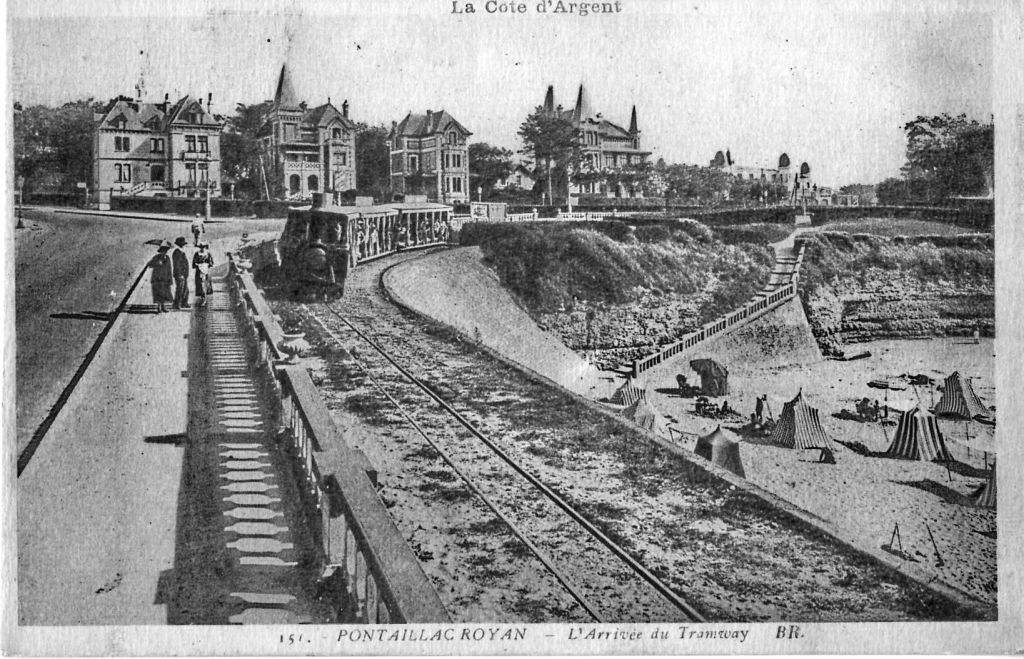 Une vieille carte postale de Royan, quartier Pontaillac