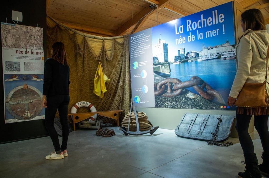 Début de la visite Musée maritime de la Rochelle