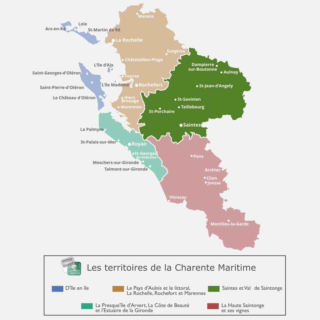 Carte du Val de Saintonge et de Saintes